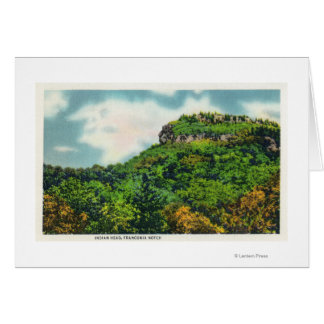 Franconia Notch State Park View of Indian Head Greeting Card