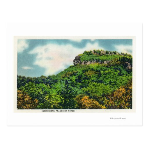 Franconia Notch State Park View of Indian Head Postcards