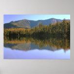 Franconia Ridge Reflection onto Lonesome Lake Poster