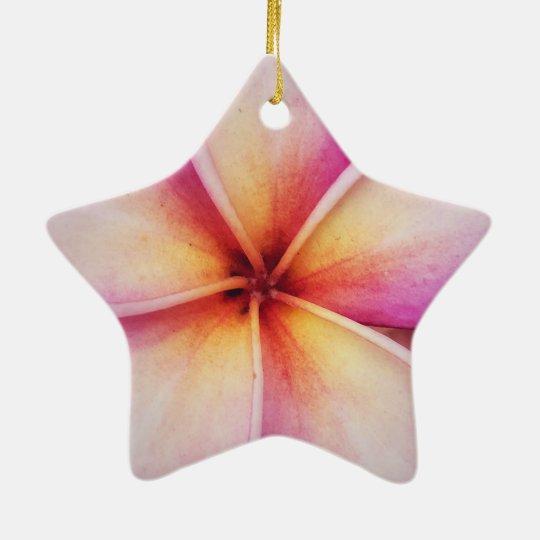 Frangipane Flower Dble-Sided Star Ornament