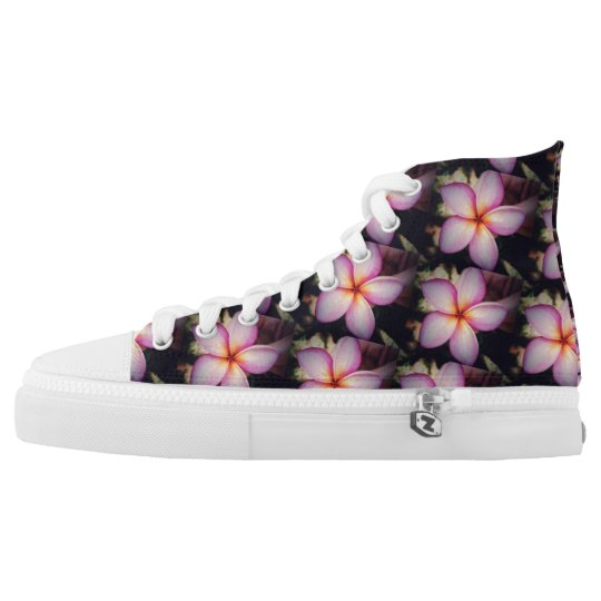 Frangipane Flower Zipz High Top Shoes