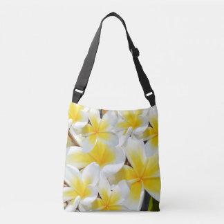 Frangipani Bouquet, Full Print Cross body Bag. Crossbody Bag