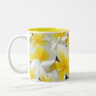 Frangipani_Bouquet,_Yellow_Two_Toned_Coffee_Mug. Two-Tone Coffee Mug