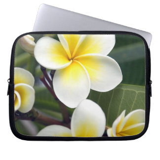 Frangipani flower Cook Islands Laptop Sleeve