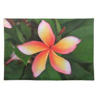 Frangipani flower placemat