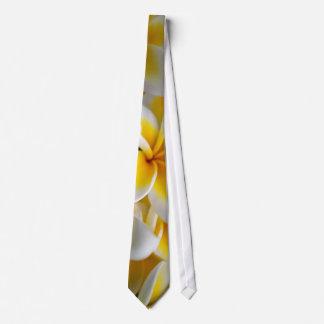 Frangipani flower tie