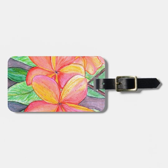 Frangipani Flowers Luggage Tag