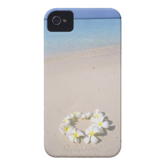 Frangipani on the beach Case-Mate iPhone 4 case