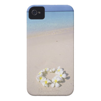Frangipani on the beach iPhone 4 cases