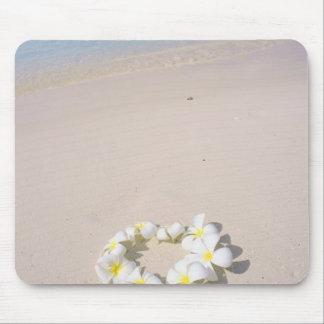 Frangipani on the beach mouse mat