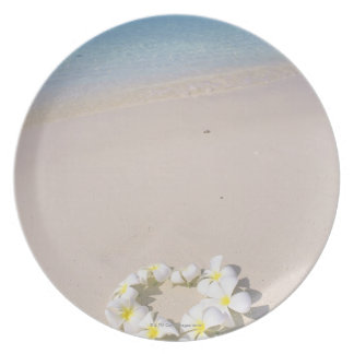 Frangipani on the beach plate