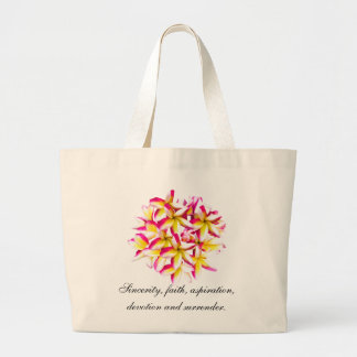 Frangipani temple flower jumbo tote bag
