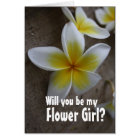 Frangipani Wedding Flower Girl Request Cards