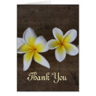 Frangipani Wedding Thank You cards