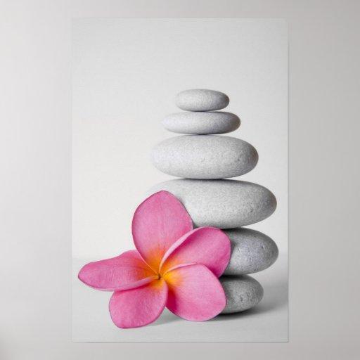 Frangipani Zen Posters