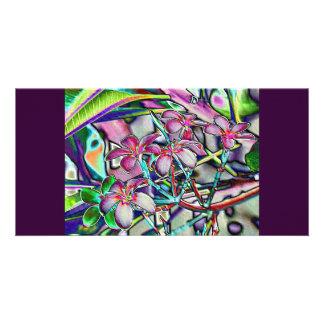 Frangipanicolouredfoil Customised Photo Card
