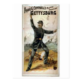 Frank G. Campbell's, 'Gettysburg' Vintage Theater Postcard