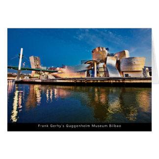 Frank Gerhy's Guggenheim Museum Bilbao Greeting Card