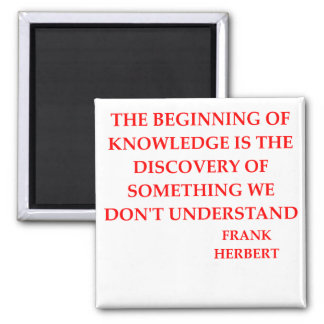 frank herbert quote square magnet