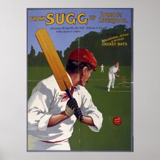Frank Sugg cricket bats, 1906 Posters