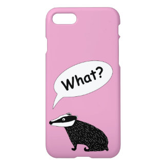 Frank the badger,  animal character happy colours iPhone 8/7 case