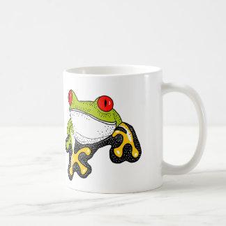 Frank the red eyed tree Frog Basic White Mug