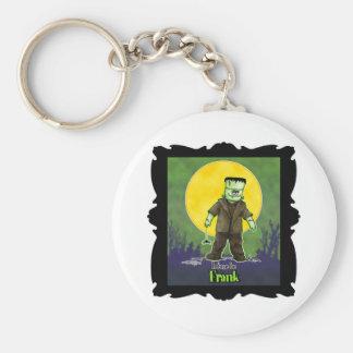 Frank Zombie Basic Round Button Key Ring