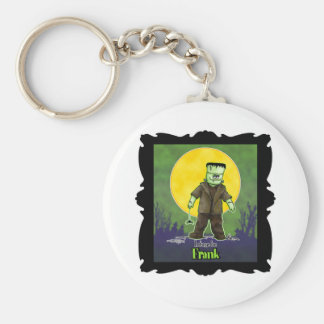 Frank Zombie Basic Round Button Key Ring