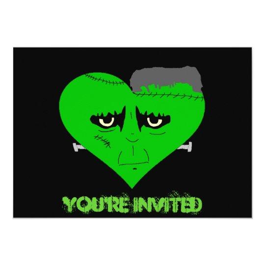 Franken Heart Face Card