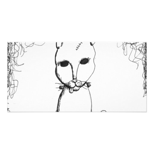 Franken Kitty Photo Card Template