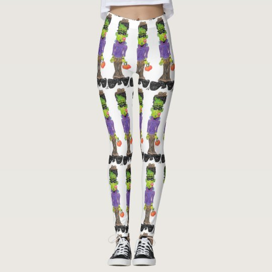 """Franken Style"" cartoon by CFW Leggings"