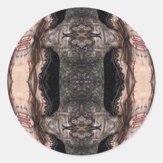 Franken Vamp Round Sticker