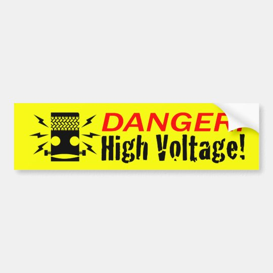 Frankenar HIGH VOLTAGE! Bumper sticker