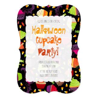 Frankencake - Cute Halloween Cupcake 13 Cm X 18 Cm Invitation Card