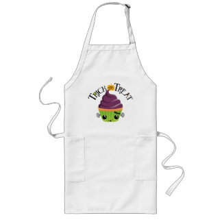 Frankencake - Cute Halloween Trick or Treat Long Apron