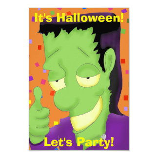 Frankencool Halloween Party Invitation