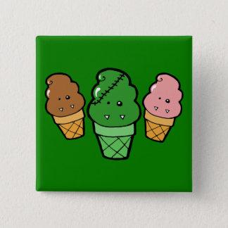 Frankencream Monster Ice Cream Cones 15 Cm Square Badge