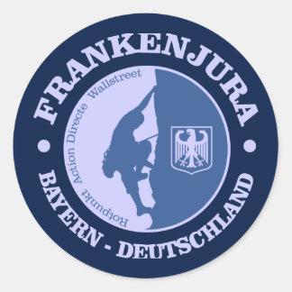 Frankenjura (rock climbing) classic round sticker