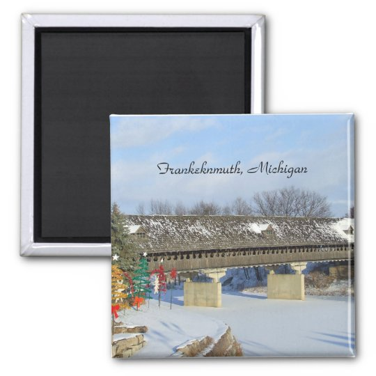 Frankenmuth Michigan Covered Wooden Bridge Magnet