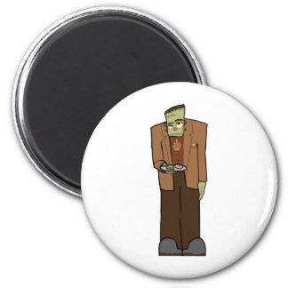 Frankenstein 6 Cm Round Magnet