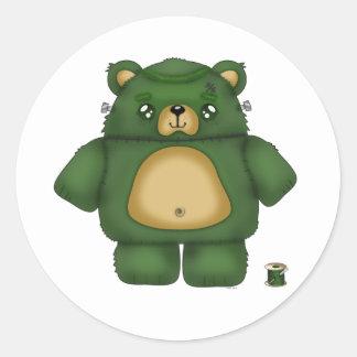 Frankenstein Bear Stickers