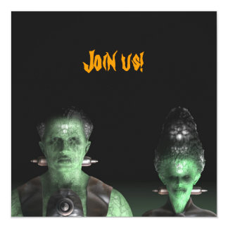 Frankenstein & Bride - Halloween Party Invitation
