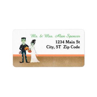 Frankenstein Bride Halloween Wedding Address Label