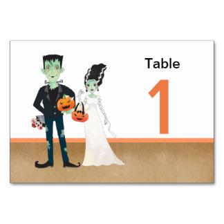 Frankenstein Bride Halloween Wedding Card