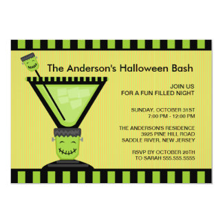Frankenstein Cocktail Halloween Party Invitation