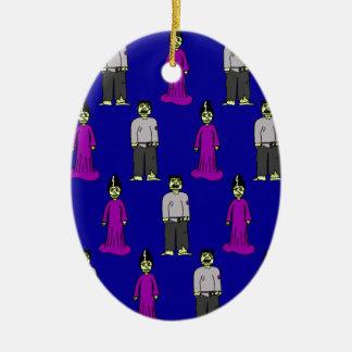 Frankenstein Couple Christmas Ornament
