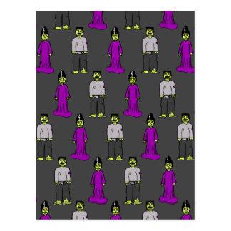 Frankenstein Couple Postcard