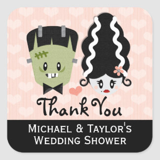 Frankenstein Couples Wedding Shower Stickers