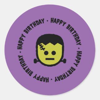 Frankenstein Halloween Birthday Stickers