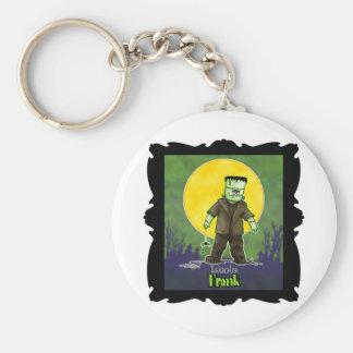 Frankenstein Halloween Design Basic Round Button Key Ring